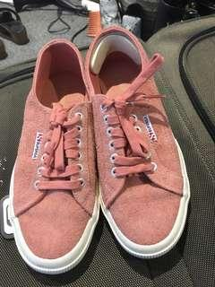 SUPERGA hairy suede sneakers