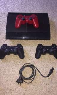 PS3 Console // 3 Controllers