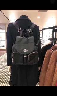新款正品Coach 尼龍後背包