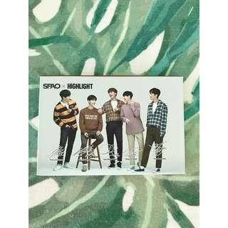 SPAO x HIGHLIGHT small note pad, ball pen, bookmark sticker set