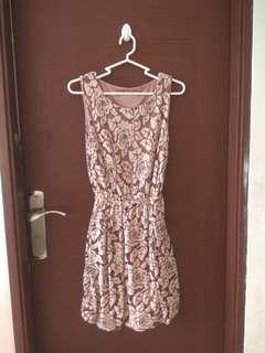 Flower layer dress/gaun lapis motif bunga