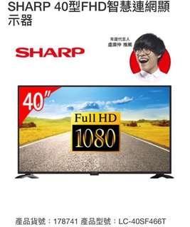 🚚 SHARP 40型 FHD智慧連網顯示器
