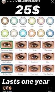 Coloured contact lense