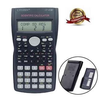 Citizen Advanced Scientific Calculator (CT - 82MS) - Dual Line Scientific Multi Function Calculator- 12 Digits Display- 240 Business Functions- Replay Function- Ideal For Engineering, Accounting, Calculus, Trigonometry