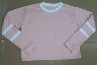 Peach longsleeves crop top