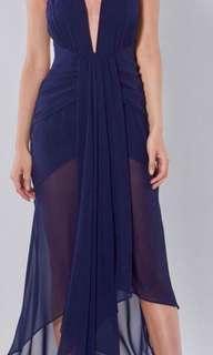 Reduced ~ Shona Joy Navy Waterfall Dress ... Races