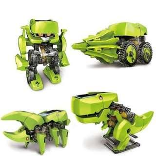 Assemble 4 In 1 Educational Science Learning Solar Robot Toy Drilling Machine Dinosaur Insect DIY Kit For Kids