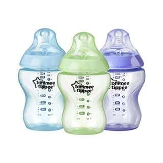 🚚 Tommee Tippee Closer to Nature Color My World Feeding Bottles, Boy, 9oz, 3pk