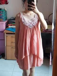 Bali peach dress