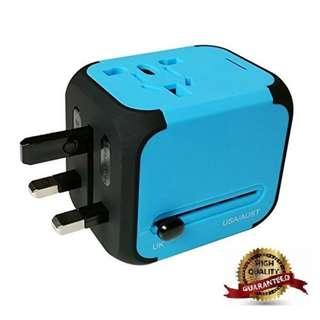 2018 Designer Universal AC Travel Adapter Wall Charger with Dual USB Ports
