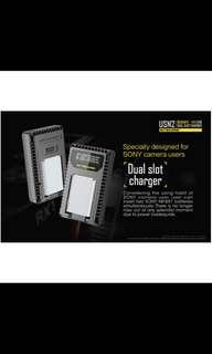 Nitecore USN2 dual charger for NP-BX1 Sony Batteries