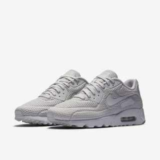 Original Nike Air Max 90 Ultra BR Breath 725222-012 Mens Pure Platinum