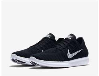 Original NIKE FREE RN FLYKNIT Running Shoes 831070-001 Black White