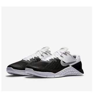 Original Men's NIKE Metcon 3 TRAINING Shoes Black / White (852928 005)