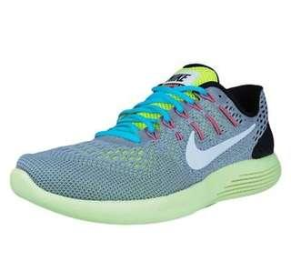 Original NIKE LUNARGLIDE 8 RUNNING SHOES WOLF GREY WHITE 843725