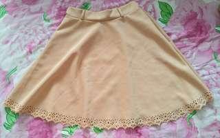 NEW Cream flare skirt