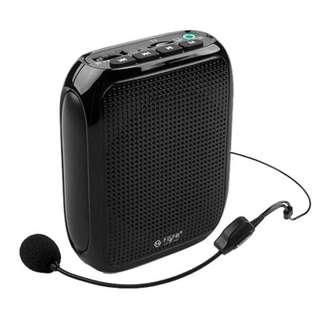 T600 Portable PA Voice Amplifier Loud Sound Speaker Waistband With Headset Microphone Completely Hands free for Special Teaching Speech Loudspeaker(Black)