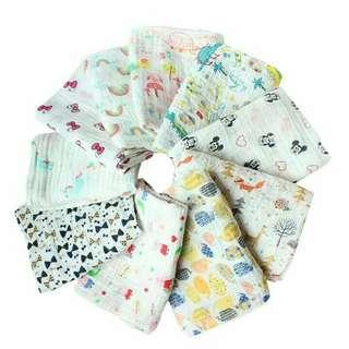 Muslin cloth 120*100cm for swaddle, bedsheet, towel, blanket baby