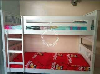 Bunke bed with matrass rm800  only self collect penang bukit jumbul