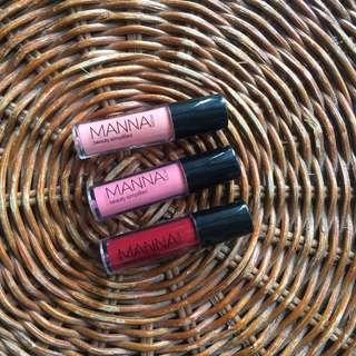 Manna Kadar Liplocked Priming Gloss Stain (3 pcs, 1.5 ml each)