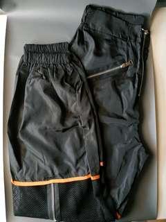 NEW harem mesh pants zipper