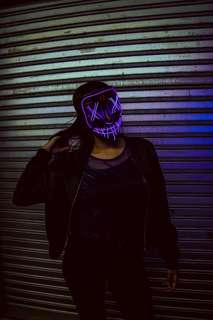NEW led mask + hologram top