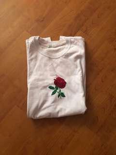 Brandy Melville Lilac Rose Aleena Shirt