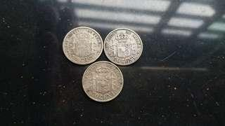Genuine original up to 100 year silver coin 3 pcs lot sell