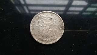 Genuine 1877 Silver coin