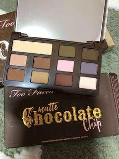 Authentic BN Too Faced Chocolate Bar eyeshadow Palette Matte