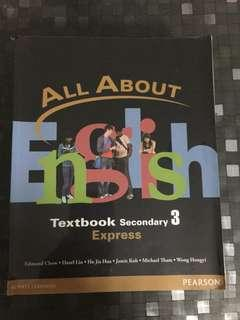 All about English Sec 3 textbook
