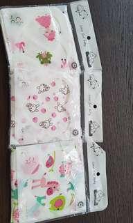 BN free mail set of baby handkerchief wiping cloth