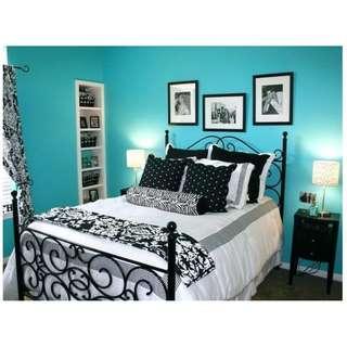 wallpaper plain TURQUISE BLUE color