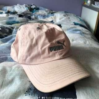 Light pink puma baseball cap sport hat