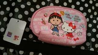Hello kitty x 小丸子 台版 化妝包