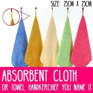 🌟Microfiber Absorbent Cloth/Towel/Handkerchief - 25cm x 25cm! 6 Colors to Choose From!🌟