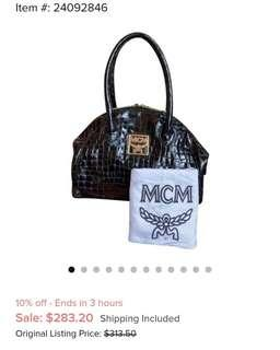 Mcm patent bag in good condition ykk zip