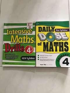 Maths Assessment Books Primary 4 (2 for $12)