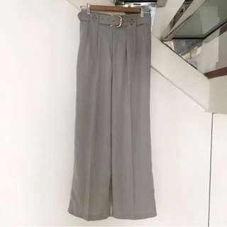 🌸 grey retro vintage culottes