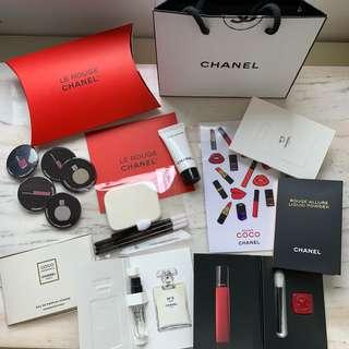 包郵 CHANEL Le Rouge Blue Serum VIP Gift Set 唇膏 香水 禮品包試用裝