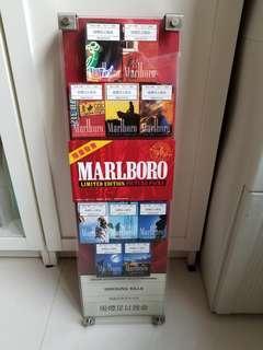萬寶路舊版庒展視牌,盒內無煙是吉盒