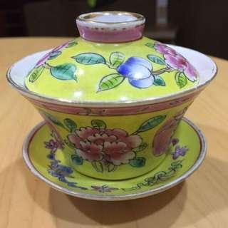 Vintage Peranakan tea Cup