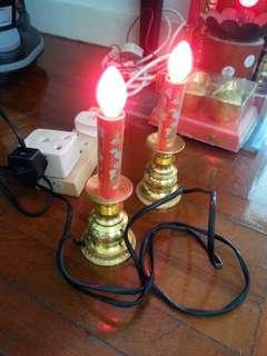 龍鳳電蠟燭連燈膽三個