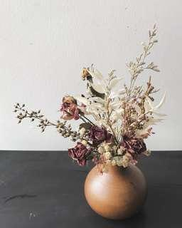 🚚 **Limited** Petite Dried Flowers Jar A