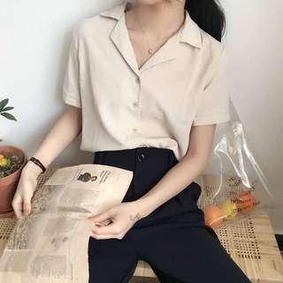 🚚 apricot blouse