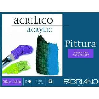 Fabriano Pittura Acrylic Paper Pads 10Sheets