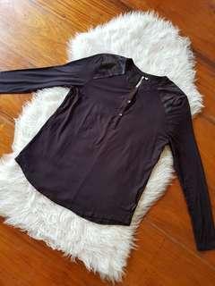 Calvin Klein Black Long Sleeved Top