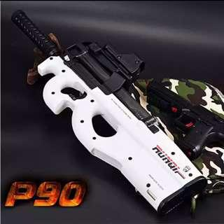 P90 Electric Toy Gun Paintball Live CS Assault Snipe Weapon Soft Water Bullet Pistol with bullets