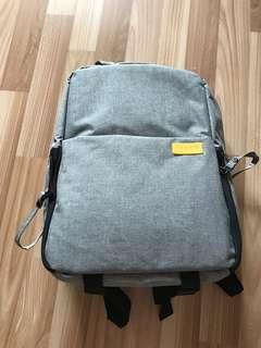 Grey multifunctional camera bag