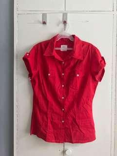 H&M Red Short Sleeves Polo